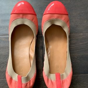 J.Crew patent / leather neon ballet flats